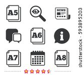paper size standard icons.... | Shutterstock .eps vector #593895203