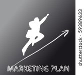 marketing plan pictured with a... | Shutterstock .eps vector #59389633