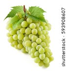 green grape. bunch of fresh... | Shutterstock . vector #593908607