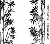 bamboo seamless vertical... | Shutterstock .eps vector #593910803