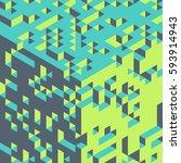 abstract 3d geometrical... | Shutterstock .eps vector #593914943