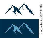 mountain logo template | Shutterstock .eps vector #593917037