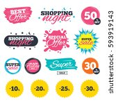 sale shopping banners. special... | Shutterstock .eps vector #593919143