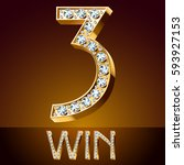 vector chic font luxury... | Shutterstock .eps vector #593927153