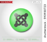colored icon or button of... | Shutterstock .eps vector #593930723