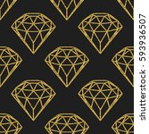 seamless pattern of geometric... | Shutterstock .eps vector #593936507