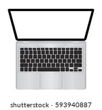 laptop vector illustration with ... | Shutterstock .eps vector #593940887