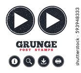 grunge post stamps. arrow sign...