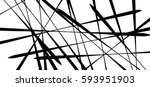 random chaotic lines abstract... | Shutterstock .eps vector #593951903