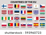 amazing set of european union... | Shutterstock .eps vector #593960723