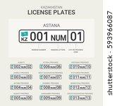 kazakhstan license plate   Shutterstock .eps vector #593966087
