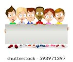 group of stylish professional... | Shutterstock .eps vector #593971397