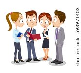 business people group... | Shutterstock .eps vector #593971403