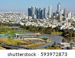yarkon river  tel aviv  and... | Shutterstock . vector #593972873