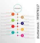 vector infographic templates... | Shutterstock .eps vector #593978117