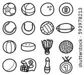 sport balls  icons set  ... | Shutterstock .eps vector #593978213