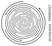 circular concentric arrows.... | Shutterstock .eps vector #594003317