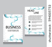 vector brochure flyer design... | Shutterstock .eps vector #594005753