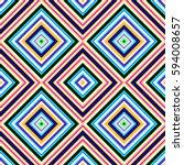 multicolored vibrant diamond... | Shutterstock . vector #594008657