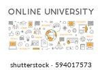 line concept for online... | Shutterstock . vector #594017573
