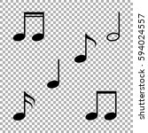 music note icon | Shutterstock .eps vector #594024557
