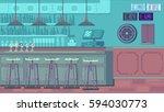 bar restaurant with counter in... | Shutterstock . vector #594030773