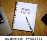 business concept. notebook with ... | Shutterstock . vector #594039533