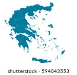 greece blue map vector | Shutterstock .eps vector #594043553