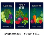 healthy vegetables and... | Shutterstock . vector #594045413