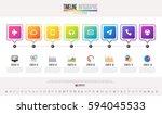 timeline infographics design... | Shutterstock .eps vector #594045533