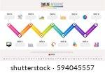 timeline infographics design... | Shutterstock .eps vector #594045557