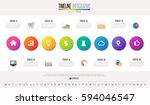 timeline infographics design... | Shutterstock .eps vector #594046547