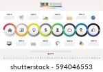 timeline infographics design... | Shutterstock .eps vector #594046553
