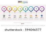 timeline infographics design... | Shutterstock .eps vector #594046577