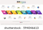 timeline infographics design... | Shutterstock .eps vector #594046613