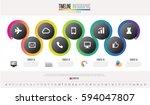 timeline infographics design... | Shutterstock .eps vector #594047807