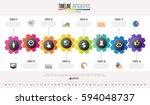 timeline infographics design... | Shutterstock .eps vector #594048737