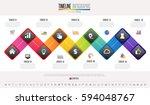 timeline infographics design... | Shutterstock .eps vector #594048767