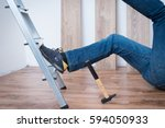 on the job injury of one worker ...   Shutterstock . vector #594050933