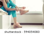 fitness sport woman in fashion... | Shutterstock . vector #594054083