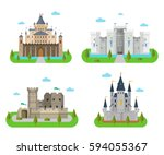 Castles And Fortress With Wall...