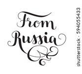 black vector lettering from... | Shutterstock .eps vector #594055433