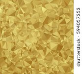 gold vector shiny triangle...   Shutterstock .eps vector #594057353