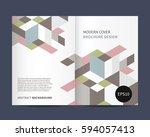 modern brochure design with...   Shutterstock .eps vector #594057413