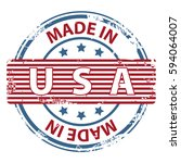 made in the usa rubber stamp... | Shutterstock . vector #594064007