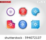 colored icon or button of...   Shutterstock .eps vector #594072137