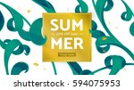 summer fashion market offer.... | Shutterstock .eps vector #594075953