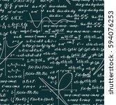 vector mathematics seamless... | Shutterstock .eps vector #594076253