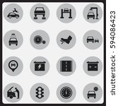 set of 16 editable traffic...