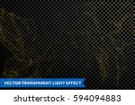 glitter gold particles light... | Shutterstock .eps vector #594094883